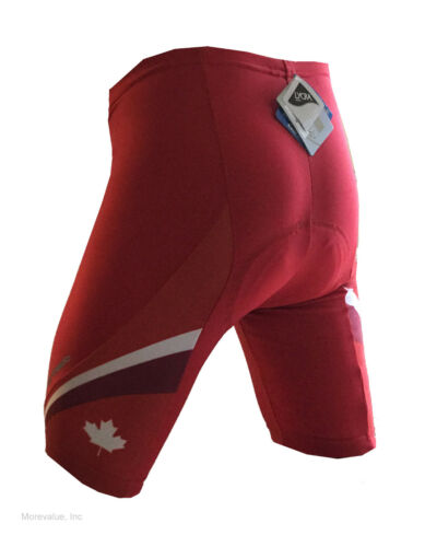 new Barbedo men/'s cycling shorts with padding Canada colors red road bike