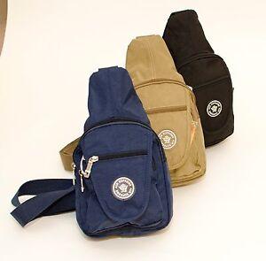 3ece89b4d14a39 New One Strap Strong Lightweight Zipped Small Rucksack Handbag Black ...