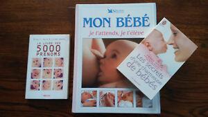 3 Livres De Maternité (livre Des Prénoms / Mon Bébé Je L'attends Je L'élève / ..