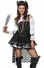 Luruiya Womens Sexy Sultry Swashbuckler Halloween Costume Black Small/Medium