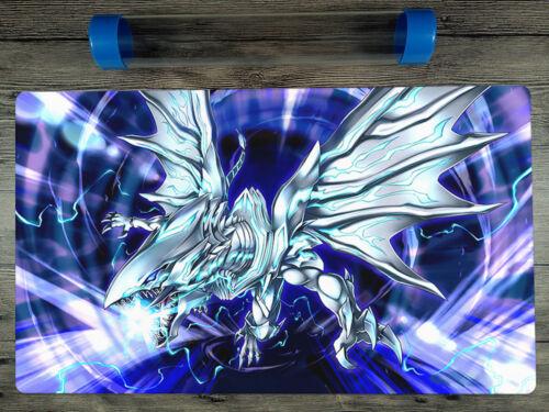 YuGiOh Blue-Eyes Alternative White Dragon TCG Custom CCG Playmat Free Best Tube