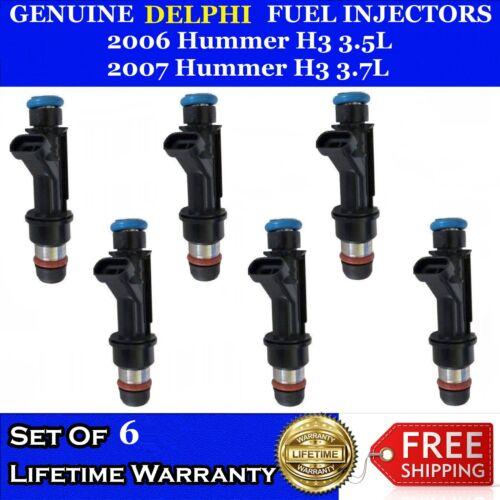 6x OEM Delphi Fuel Injectors For 2006 Hummer H3 3.5L 2007 Hummer 3.7L #12586684