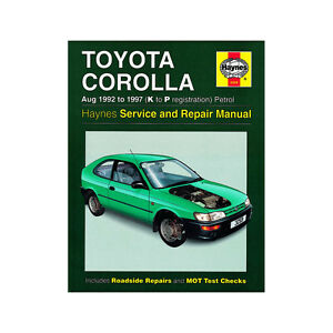 toyota corolla haynes manual 1997 02 1 3 1 6 1 8 petrol workshop ebay rh ebay co uk toyota corolla repair manual 2005 toyota corolla repair manual