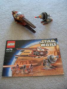 LEGO-Star-Wars-Rare-Geonosian-Fighter-4478-No-Minifigs