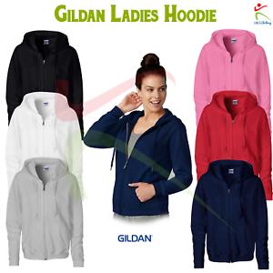 Gildan Heavy Blend™ Ladies Full Zip Hooded Sweatshirt Womens Semi Fitted Jumper