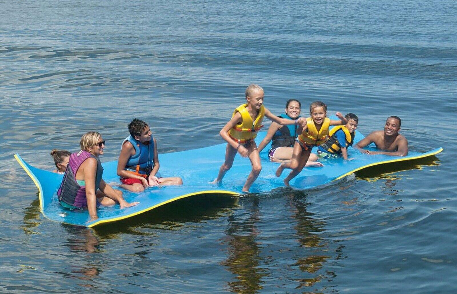 Image 2 - Huge 7 Person Floating Oasis Foam Raft Lake Sea Water Pad Mat 15' x 6' 1,500 lbs