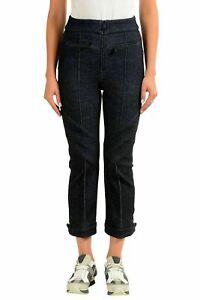 bd6e6e4416641 Moncler Women's Wool Dark Blue Cropped Casual Pants US 6 IT 42 ...
