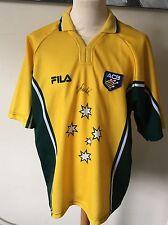 Australia Cricket shirt signed By shane warne Mens XL Fila