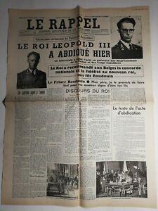 N410-La-Une-Du-Journal-Le-rappel-17-juillet-1951-le-roi-Leopold-III-a-abdique