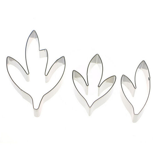 Details about  /Fondant Cake Decoration Stainless Steel Tools Peony Flower Leaves Cutters SeYJCA