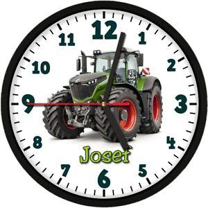 Details Zu 361 Wanduhr Traktor Kinder Uhr Mit Wunschname Trecker Kinderzimmer