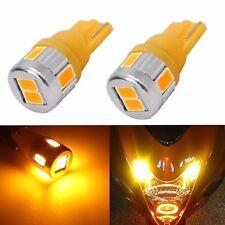 JDM ASTAR 4x T10 Wedge 5730 SMD Bright Amber 12V LED Festoon Light Bulbs 194 168