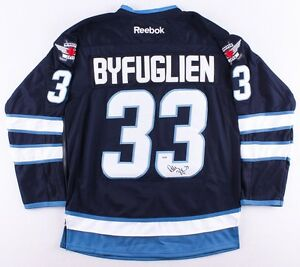 premium selection 2ee11 491c4 Details about Dustin Byfuglien Signed Winnipeg Jets Jersey (PSA COA) NHL  Career 2005–present