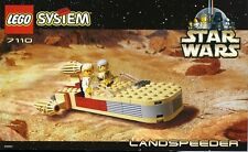 LEGO STAR WARS 'LANDSPEEDER' #7110 LUKE, OBI-WAN RARE 100% COMPLETE GUARANTEE