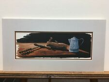 Bob Timberlake Study for Old Timers Blue Enamel Coffee Pot Matted Print