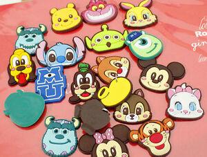 50 Pcs Mickey Minnie pvc Soft Decoration Childrens Jewelry DIY Making