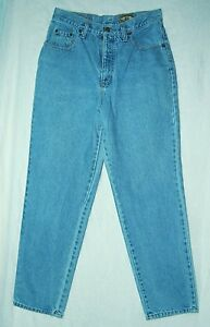 Vintage-HIGH-WAIST-Relaxed-Tapered-Leg-Thick-COTTON-80s-EXPRESS-EXP-Jeans-9-10
