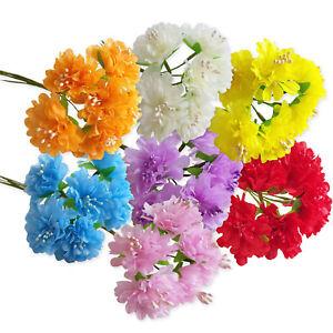 6pcs-Artificial-Carnation-Craft-Flowers-Hair-Garland-Floral-Decoration-Wedding