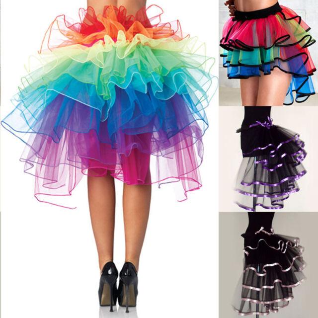 Adult Women 5 Layered Tulle Tutu Mini Skirt Pettiskirts Women Costume Dancewear