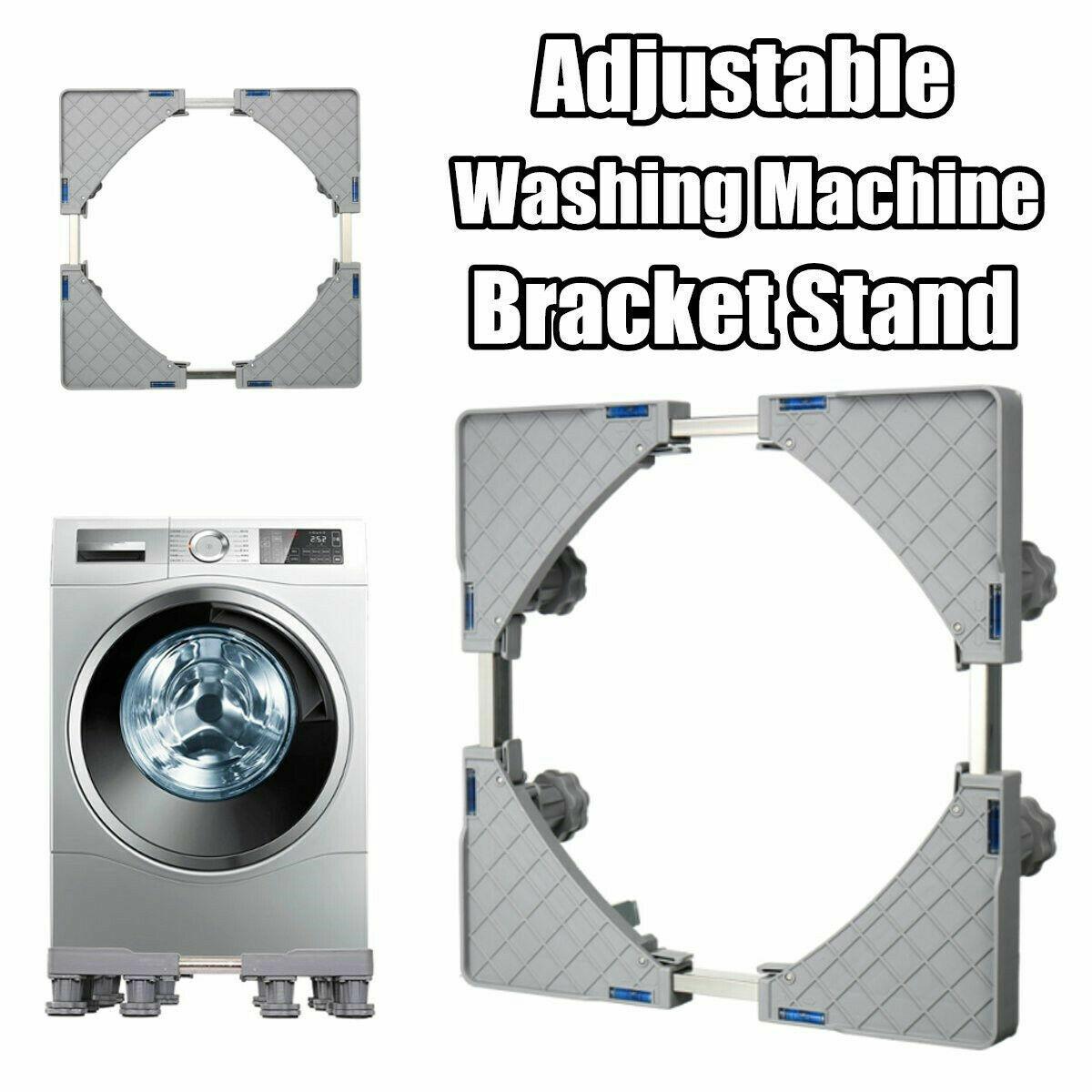 Adjustable Washing Machine Refrigerator Undercarriage Bracket Base Wheels 300KG