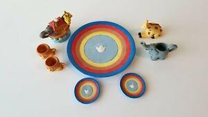 Enseng-International-Miniature-Tea-Set-Lions-Elephants-And-Giraffes