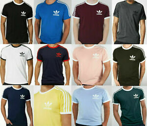 Adidas-Originals-t-shirt-California-Retro-Crew-Neck-Short-Sleeve-S-M-L-XL
