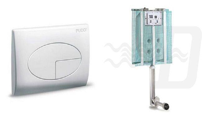 Set completo scarico Pucci ( PLACCA + CASSETTA INCASSO)