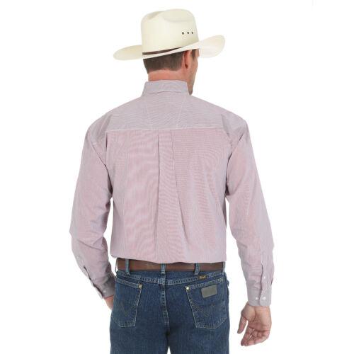 Red//White Wrangler MGSR223 GeorgeStrait Button Down Striped Shirt No Tax