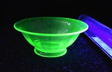Vintage Green Depression/Uranium Glass Footed Bowl