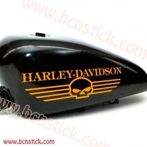 2x-adhesivos-de-vinilo-stickers-Harley-Davidson-calavera-deposito