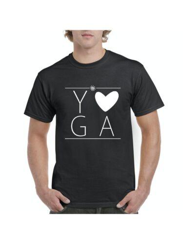 Love Yoga Border Lines Christmas Birthday Gift Match with Yoga Mats T-Shirt