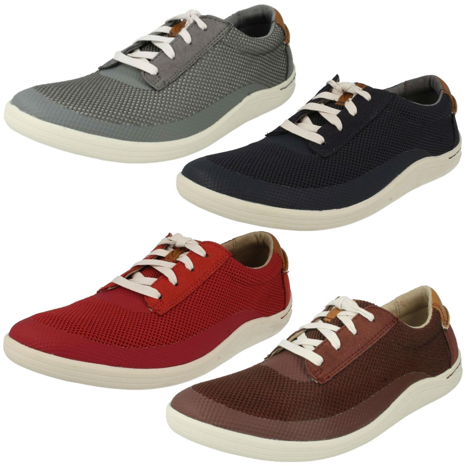 Clarks de HOMBRE CORDONES livanos Zapatillas de Clarks Deporte Informales Zapatos Talla 3daf09