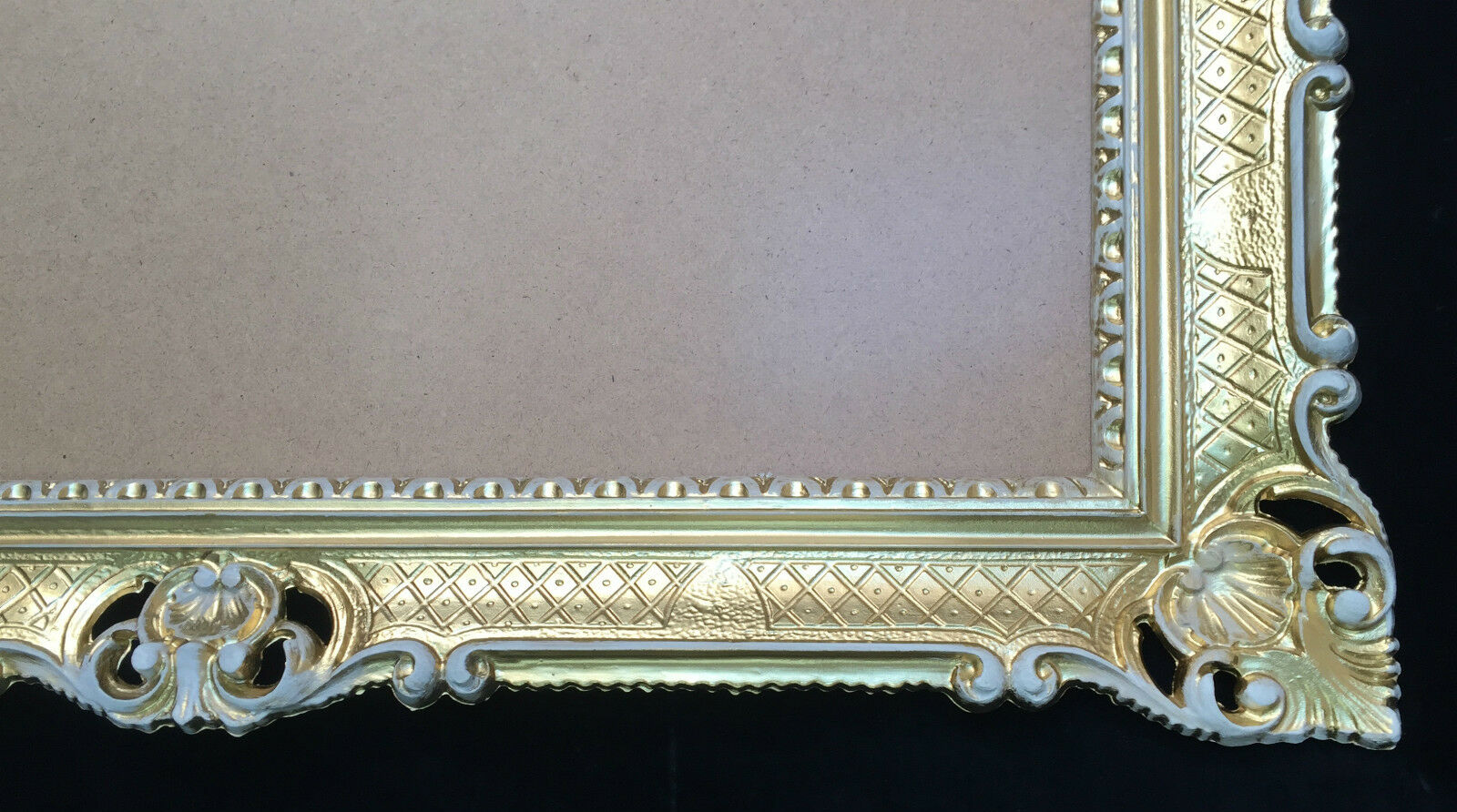 Cadre D'Image Or-Blanc Baroque Antique 90x70 Haut Grand Cadre Photo