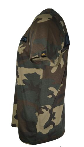 Alpha Industries Camo T-Shirt Camouflage Armée Militaire Knoxville Tennessee USA