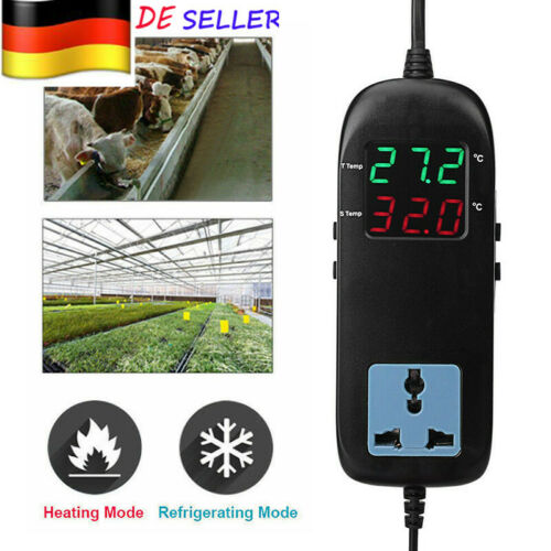 220V Mini Digital LCD Anzeige Thermoregler Temperaturregler Thermostat New DE