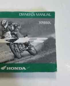 2006 honda xr650l owners operators owner manual factory oem book new rh ebay com honda xr650l service manual pdf 2000 honda xr650l service manual