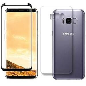 super popular 5c8e5 46a46 Details about FULL BODY Tempered Glass Screen Protector + Rear Cover For  Samsung Galaxy S8