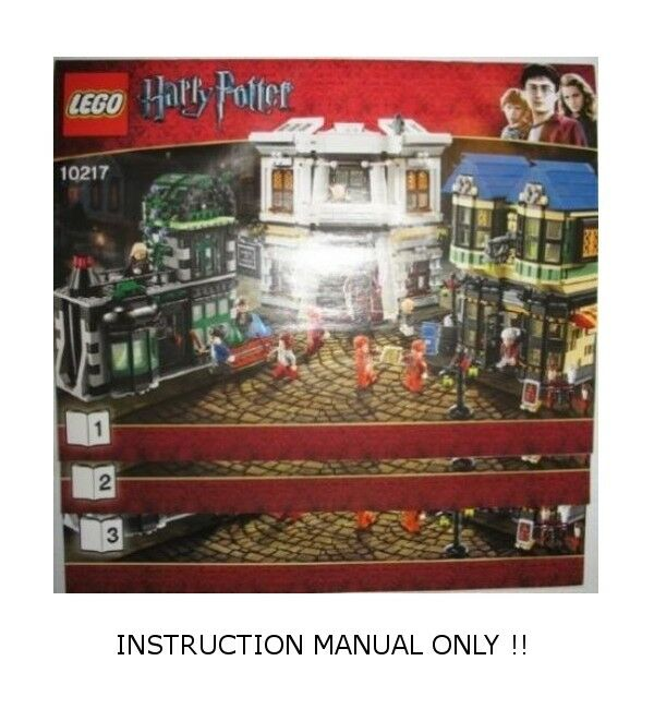INSTRUCTION MANUAL for LEGO 10217 - HARRY POTTER POTTER POTTER - Diagon Alley - Book 1,2 & 3 22a5f7