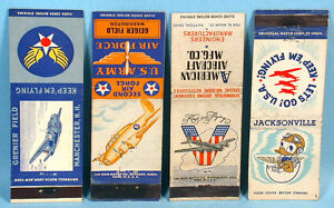 1940s-World-War-II-Air-Force-Stations-Navy-Army-7-Original-Matchbook-Covers
