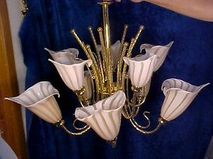 Beau Image Is Loading SPECTACULAR 10 Light 2Tier Chandelier MURANO MAUVE CALLA