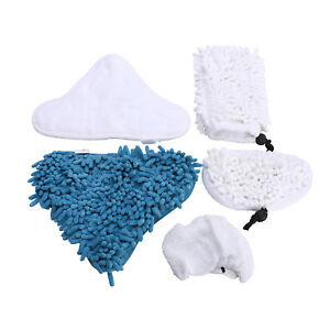 steam cleaner mop pads microfibre washable cloth kit pads for h20 h2o pads x5 ebay. Black Bedroom Furniture Sets. Home Design Ideas