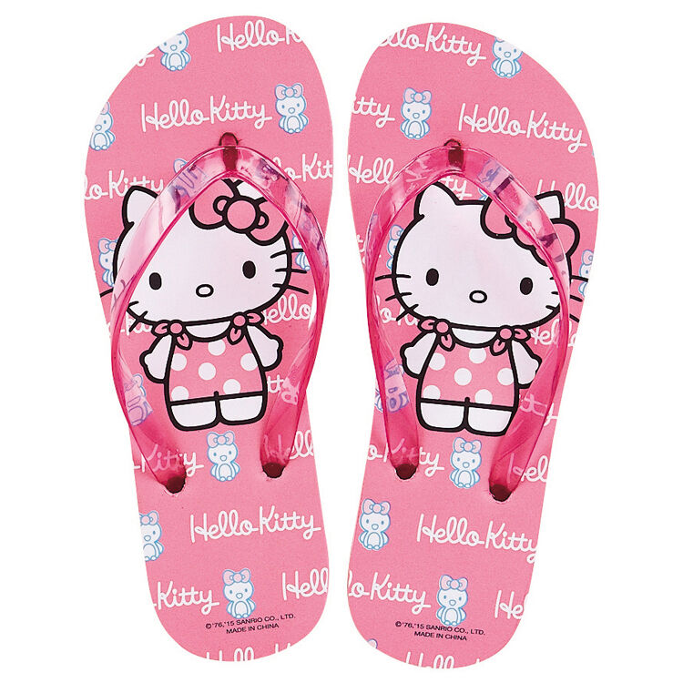 Sanrio Hello Kitty with Pink Penguin Penguin Pink Flip Flops Adult & Kids Slippers Shoes 488857