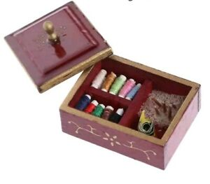 Miniature-Dolls-House-Accessories-Wooden-Sewing-Box-with-sewing-items-1-12th
