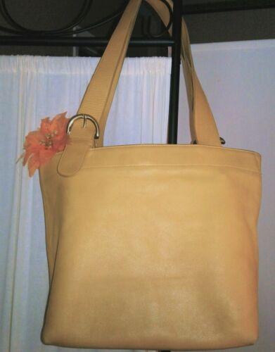 Vintage Coach Shoulder Bag Yellow Mustard Leather