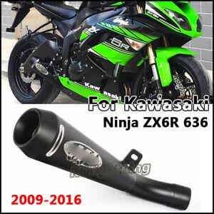 For-Kawasaki-Ninja-ZX6R-636-2009-2016-Slip-on-Connect-Pipe-Exhaust-Muffler-Pipe