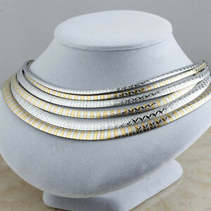 Women-Stainless-Steel-Fashion-Silver-Gold-Choker-Elegant-Chain-Necklaces-Jewelry