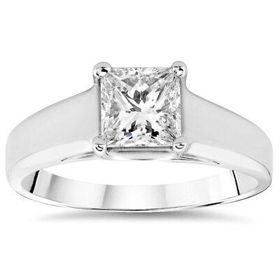1 1/2ct White Gold Princess Cut Diamond Engagement Ring