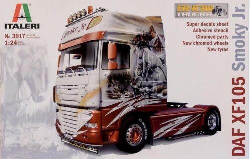 Truck Laster LKW 1:24 Model Kit Bausatz Italeri 3917 DAF XF105 Smokey Jr
