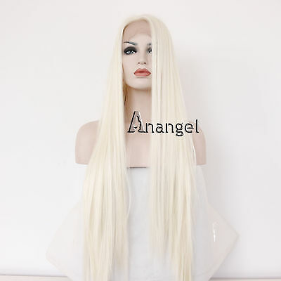 Blonde Lace Front Wig Glueless Full Synthetic Hair Wigs for Women Long Straight