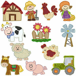 On the farm machine applique embroidery patterns 12 designs ebay image is loading on the farm machine applique embroidery patterns 12 dt1010fo